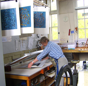 Screenprinting at Kew Studio