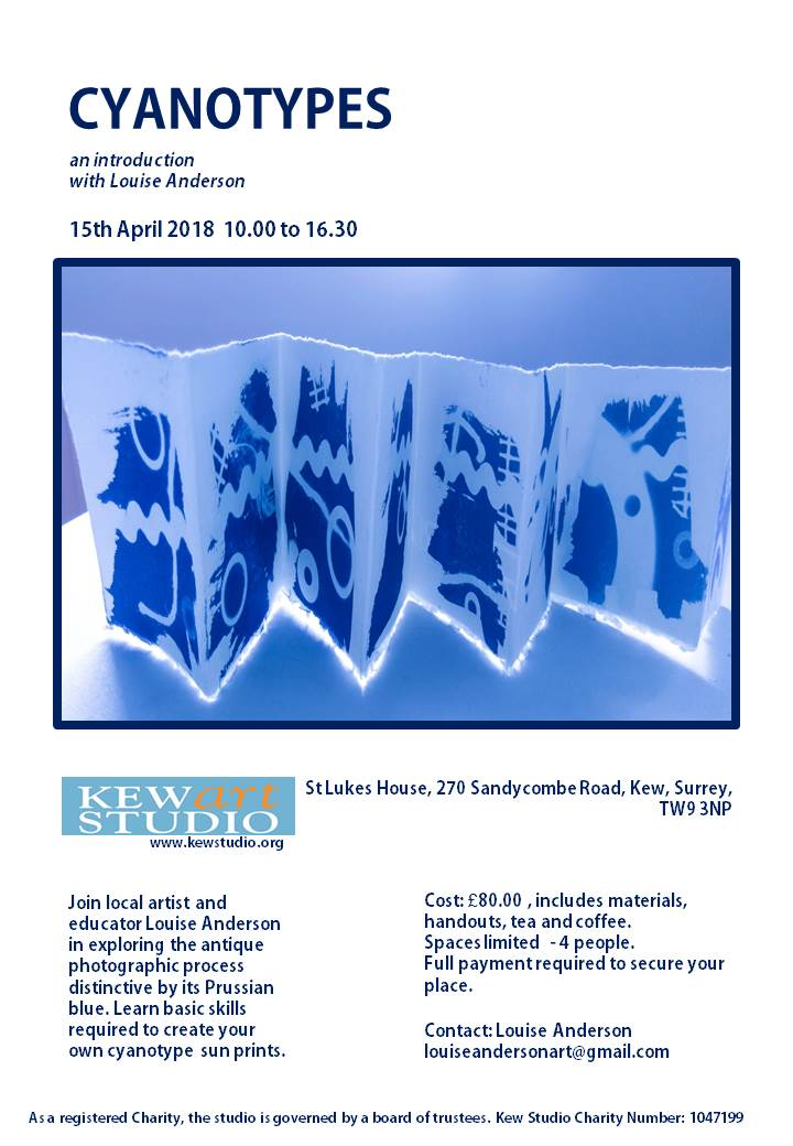 Cyanotype Poster April 2018