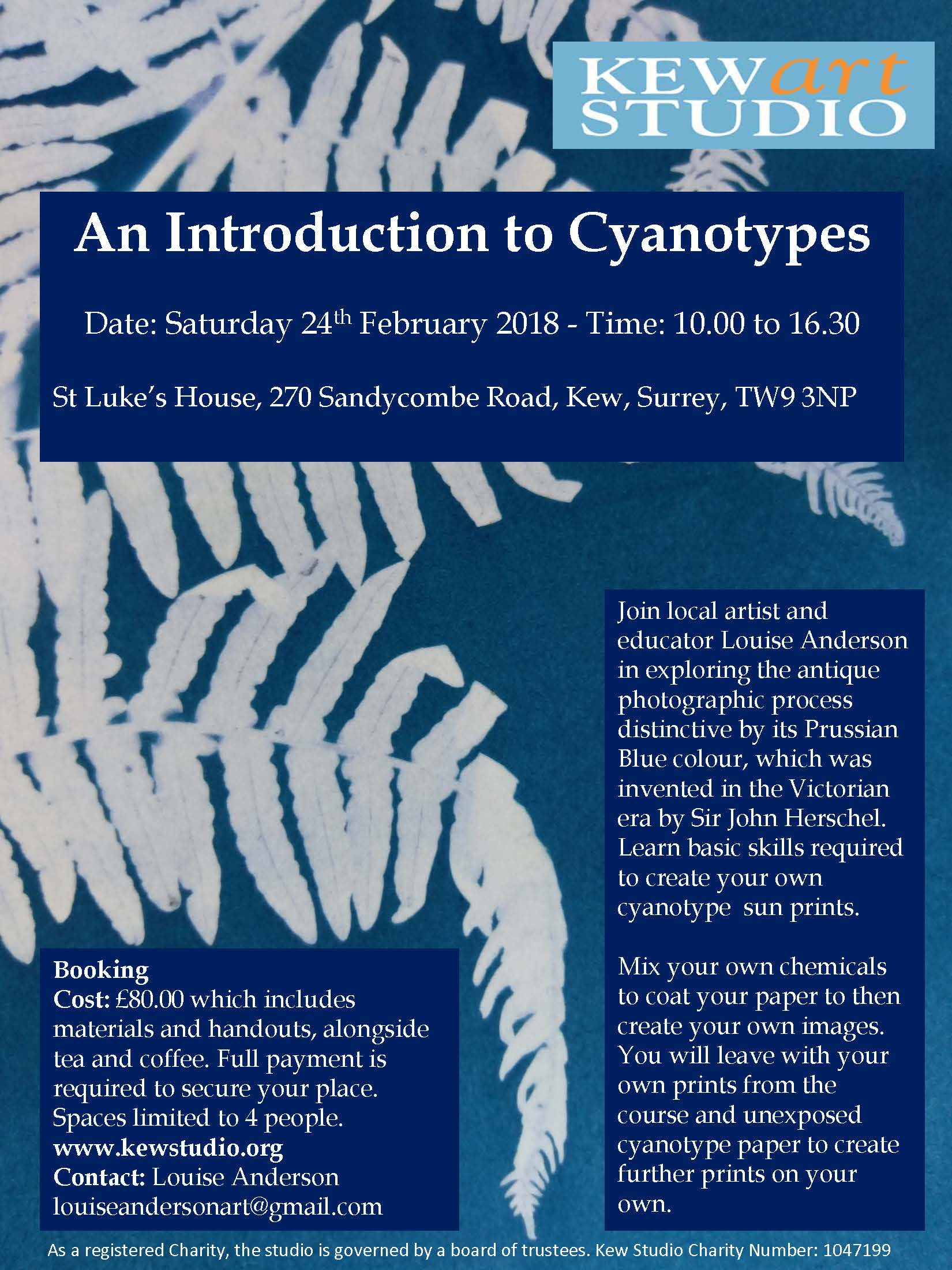 February Poster Cyanotype 2018 Fern