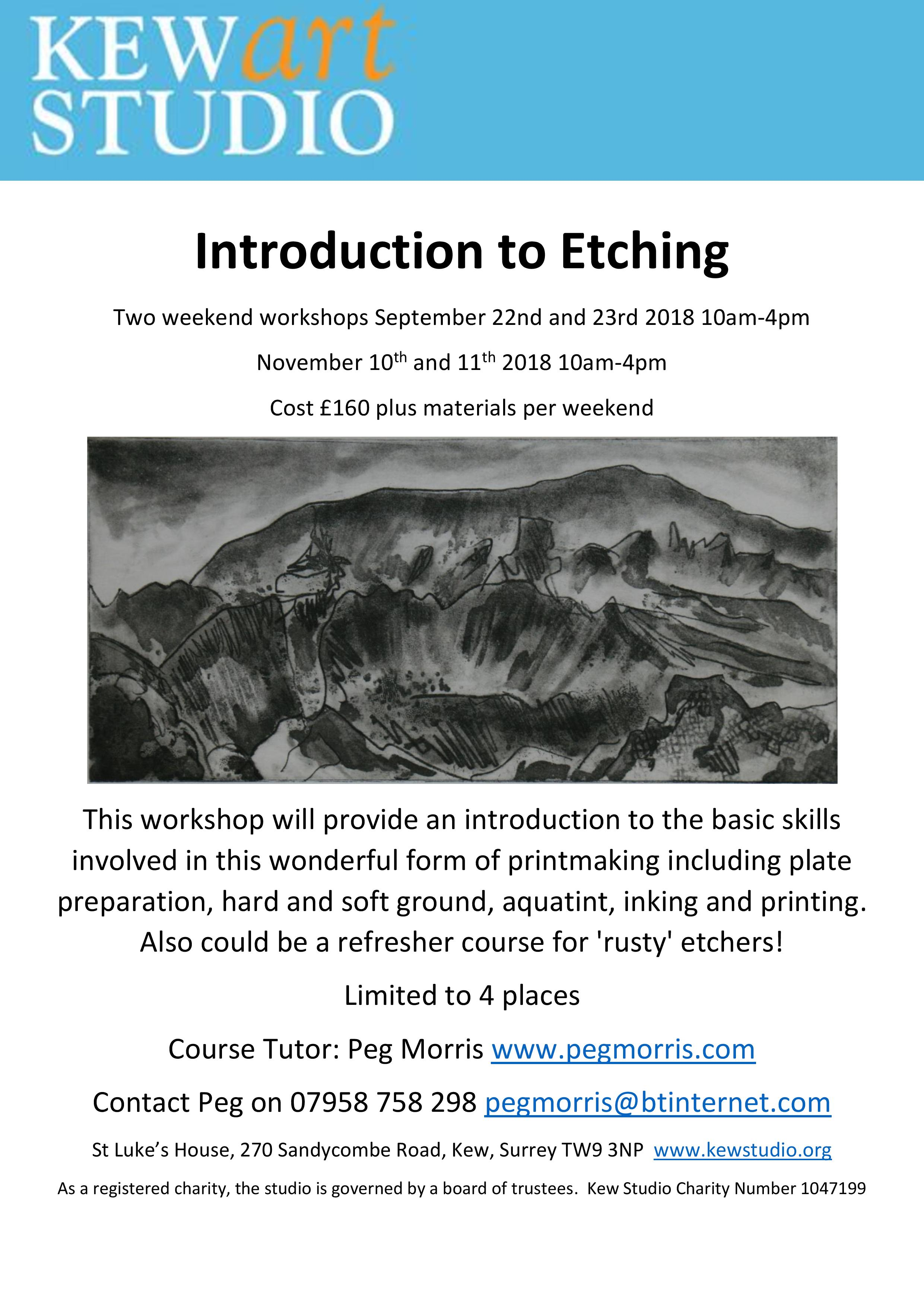 Introduction to Etching weekends September and November 2018-page-001