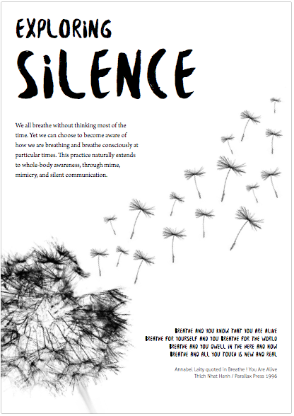 Download the Exploring Silence worksheet